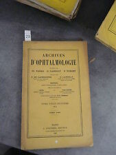 Archives ophtalmologie bulletins mémoires avril 1908  monoyer  optique médecine