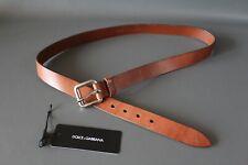 Dolce & Gabbana Gürtel Belt braun Leder 105cm