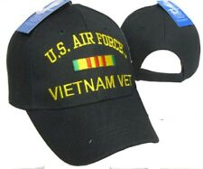 U.S. Air Force Vietnam Vet Veteran Black Ribbon Embroidered Cap CAP611C Hat