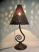 lampe de chevet Marocaine fer patiné lanterne photophore décoration bougeoir