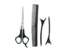4 PIECE PROFESSIONAL HAIR CUTTING & THINNING SCISSORS SHEARS HAIRDRESSING SET UK