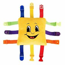 "BUCKLE TOY ""Bongo"" - Toddler Early Learning Basic Life Skills Children's Plush"