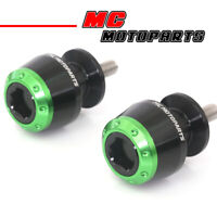 ATOM Green CNC Swingarm Spools Sliders Bobbins For Kawasaki NINJA 400 18-20 19