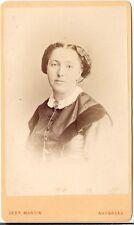 Gebr. Martin CDV photo Damenportrait / benannt - Augsburg 1870er