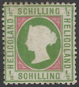 Heligoland 1869-73 1/2sch yellow green & rose MH SG 6a £160