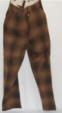 Vintage Eddie Bauer Woolrich Heavy Wool Pants Hunting Suspender 30x30 1940's USA