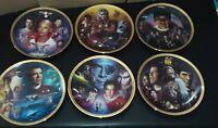 Star Trek All 6 Original Movies Collectors Plates By Morgan, The Hamilton...