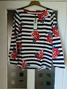 JOULES HARBOUR OVERSIZED JERSEY TOP. BNWT. COLOUR. CREAM FLORAL . SIZE. UK.14