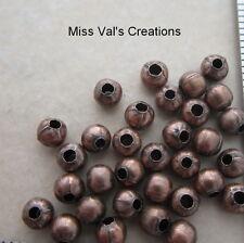 100 antique copper round jewelry beads quantity 4mm