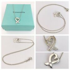 AUTHENTIC Tiffany and Co Paloma Picasso  Loving Heart Necklace with DIAMOND!
