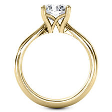 0.50 Carat Round Cut Diamond Ring Solitaire Engagement Yellow Gold 14k