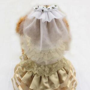 Pet Bride Wedding Headdress Feather Net Bow Face Veil Veils Cap HO