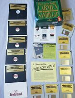 """MS-DOS Where in the World is Carmen Sandiego Deluxe Edition PC 1990 5.25"""" 3.5"""