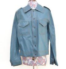 Stylish Fully Reversible Blue Genuine Vintage Mens Suede Leather Jacket