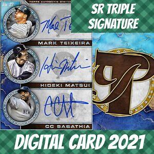 Topps Bunt 21 Texeira Hideki Matsui Pristine Triple Signature 2021 Digital