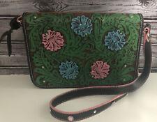 Montana Silversmith Leather Studded Floral Handbag Purse