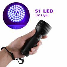 UV Taschenlampe, Schwarzlichtlampe Mit 51 LEDs Sehr Hell Superstrahl Flashlight