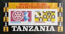 TIMBRES ECHECS : TANZANIE 1986 BLOC FEUILLET N° 44** SANS CHARNIERE Non Dentelé