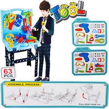 63pcs Bambini Giocattolo Banco di Lavoro Tool Kit Fai Da Te Bambini Gioco di Ruolo Custodia Set Natale