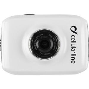 Interphone Cellularline Mini Motion Caméra Vidéo LCD Blanc Pour Motos / Voitures