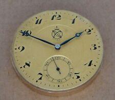 Pocket watch movement, signed Exakt, 45mm, 16 rubis, 3 adj, all working well.
