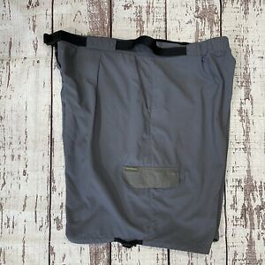 ExOfficio Amphi Hiking Outdoor Shorts Women' Sz XL 36 Cinch Legs Belted Gray EUC
