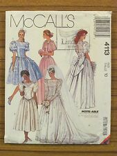 Mccall's Pattern - 4113 Ladies Dress Bride Wedding Bridesmaid Size 10 Uncut