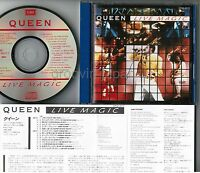 QUEEN Live Magic JAPAN CD CP32-5173 1A2 TO w/PS+INSERT No OBI 1987 issue Free SH