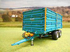 UNIVERSAL HOBBIES ROLLAND BH100 TWIN AXLE TIPPING GRAIN TRAILER 1/32 4123