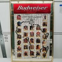 RARE! Budweiser Mirror Kings and Queens of Africa 25th Anniversary King of Beers