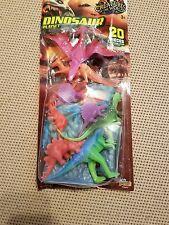14 Jurassic Dinosaurs 4 Stones 2 Trees Kids Plastic Playset Ages 3+ 20 Piece Set