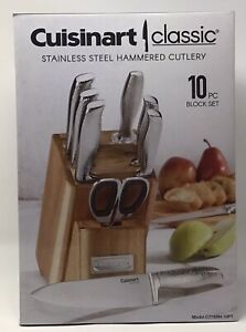 Cuisinart Classic, Stainless Steel Hammered Cutlery, 10 PC Block Set, BRAND NEW