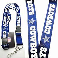 NFL Dallas Cowboys Clip On Lanyard (Blue Color)