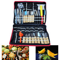 Set Knife Carving Home Tools Engraving Food Fruit Vegetable Wood Kitchen 80Pcs