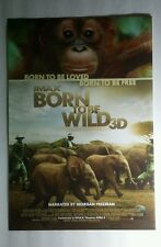 Born To Be Wild 3D Imax Elefantes Morgan Freemn Foto 13.5x20 Movie Promo Póster