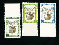 Dominica Stamps # 433-5 VF OG NH Imperf Selvage Error
