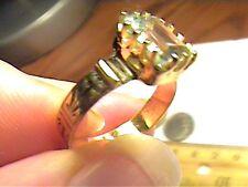 AQUAMARINE AQUA ring   ANNIVERSARY SOLITAIRE STERLING 925 natural real small