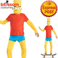CK1720 Deluxe The Simpson Bart Funny Child Book Week Fancy Dress Up Costume Mask