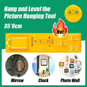 AU Picture Hanging tool Tools Frame Hanger Easy Wall Photo Hanging Level Ruler