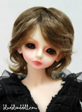 "1/4 1/6 bjd 5-6"" head synthetic mohair brown copper doll wig tiny iplehouse lati"