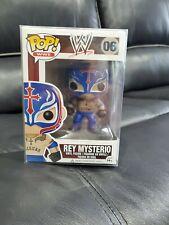 RARE VAULTED Rey Mysterio WWE #06 Funko Pop! w/ Funko Pop Protector