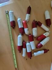 Vintage hand made Wooden Fishing Bobbers Floats