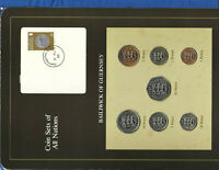 Coin Sets of All Nations Guernsey Brown 1979-1982 UNC £1 1981 Lily 11AU82