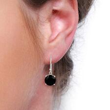 Black Onyx Gemstone Drop/Dangle Earrings 925 Silver High Finish Jewelry