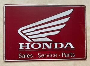 HONDA SALES SERVICE PARTS SIGN MAN CAVE BAR GARDEN CAR GARAGE WORKSHOP  20x30