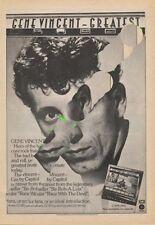 Gene Vincent LP advert ZigZag Clipping 1970's