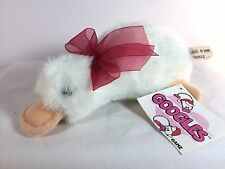 "Vintage GOOGLES Duck Platypus White Sparkles Christmas Red Bow Mini 7"" Ganz 1999"