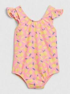 Baby Gap Pink Lemon Flutter Sleeve One Piece Swim Suit NWT Various Sizes