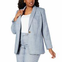 CALVIN KLEIN NEW Women's Plus Size One-button Lined Blazer Jacket Top 22W TEDO