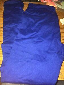 LuLaRoe OS ONE SIZE LEGGINGS Stretch Pants Solid Bright Royal Blue Soft NWOT
